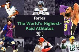 VĐV thể thao nào kiếm tiền nhiều nhất trong 10 năm qua theo thống kê của Forbes?