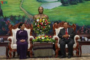 Tổng Bí thư, Chủ tịch nước Lào tiếp cựu quân tình nguyện Việt Nam