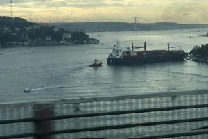 Tàu chở hàng gặp tai nạn tại eo biển Bosphorus của Thổ Nhĩ Kỳ