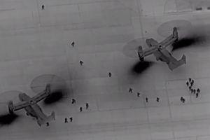 'Chim ưng siêu dị' V-22 cấp tốc đổ quân xuống đại sứ quán Mỹ tại Iraq