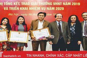Hà Tĩnh giành 4 giải thưởng Văn học - nghệ thuật năm 2019