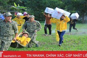 Diễn tập cứu hỏa tại doanh nghiệp kinh doanh xăng dầu ở Nghi Xuân
