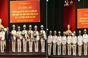 Huyện Gia Lâm (Hà Nội): 100% các xã đã bố trí Công an chính quy