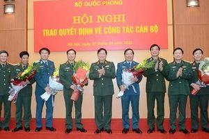 5 tướng Quân đội nhận nhiệm vụ mới
