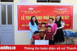 Thị xã Bỉm Sơn: Khánh thành và bàn giao nhà đại đoàn kết cho hộ nghèo đặc biệt khó khăn