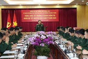 Đại tướng Ngô Xuân Lịch thăm, chúc tết Cục GGHB Việt Nam và Trường Sĩ quan Chính trị