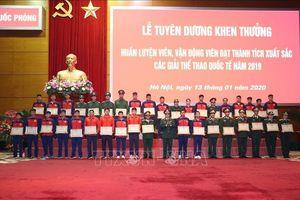 Bộ Quốc phòng tuyên dương huấn luyện viên, vận động viên xuất sắc 2019