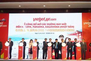 Vietjet công bố mở 5 đường bay mới tới Nhật Bản