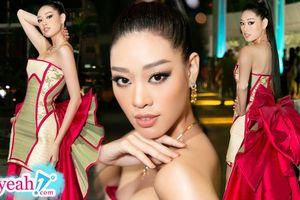 Lấy chiếu cói làm thành bộ váy với chiếc nơ khổng lồ, liệu trang phục của HH Khánh Vân có hiểu đúng ý nghĩa?