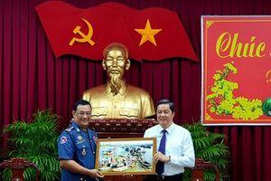 Quân đội Hoàng gia Campuchia chúc Tết lãnh đạo TP Cần Thơ