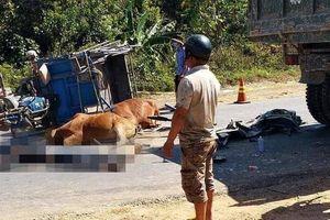 Xe ba gác chở bò va chạm với xe tải, nam thanh niên tử vong