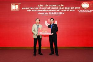 Bảo Tín Minh Châu trao tặng 100 suất quà tết cho người nghèo