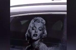 Kinh ngạc những tác phẩm tuyệt đẹp vẽ từ bụi trên cửa kính ô tô