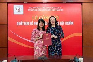 Bổ nhiệm Phó Hiệu trưởng Trường Đại học Văn hóa Hà Nội
