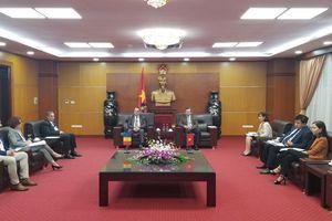 Thứ trưởng Hoàng Quốc Vượng tiếp Đoàn doanh nghiệp Rumani