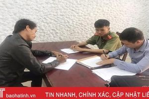 Hà Tĩnh: Triệu tập đối tượng bịa chuyện CSGT tai nạn, tung lên mạng xã hội