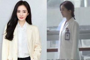 Dương Mịch gầy gò với tạo hình áo blouse trắng sau khi nhập viện vì kiệt sức, chỉ về ăn Tết đúng 2 ngày