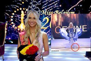 Tân Hoa hậu Bỉ gặp sự cố rơi áo ngực trên sân khấu khiến khán giả phì cười