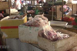 Tiêu hủy hơn 200kg thịt lợn ôi thiu, hôi thối tại chợ Đồng Xoài
