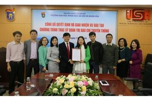 ĐHKHXH&NV chính thức đào tạo ngành Thạc sỹ Quản trị Báo chí truyền thông