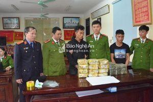 Nghệ An: Bắt 2 đối tượng người Lào vận chuyển 20 bánh heroin, 12kg ma túy
