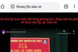Ngán ngẩm tình trạng wifi của trường quá chậm, Sinh viên ĐH FPT hack website trường