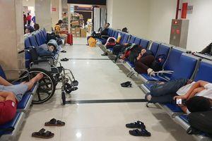 Sợ kẹt xe trễ chuyến, hành khách vạ vật qua đêm ở sân bay Tân Sơn Nhất