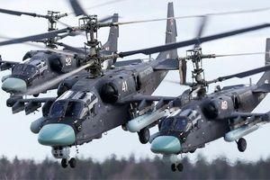 Dàn trực thăng siêu mạnh của Nga khoe uy lực ở vùng đất nhạy cảm