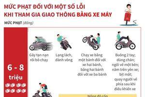 Mức phạt tiền một số lỗi vi phạm giao thông với xe máy