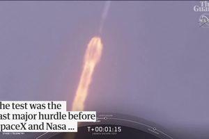 Tàu vũ trụ thoát hiểm khó tin khi tên lửa Falcon 9 nổ tung trên trời