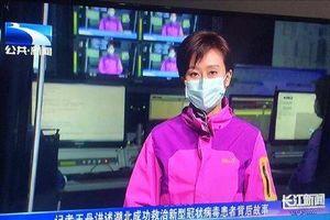 Toàn bộ MC, phóng viên ở 'ổ dịch' Vũ Hán phải đeo khẩu trang làm việc