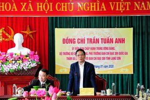 Bộ trưởng Trần Tuấn Anh thăm và chúc tết lực lượng QLTT tỉnh Lạng Sơn