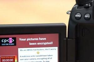 Cẩn trọng với mã độc tống tiền trên máy ảnh