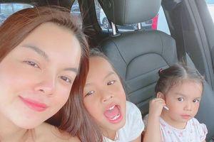 Phạm Quỳnh Anh cảm thấy cô đơn khi chia tay hai con gái về quê nội đón Tết với Quang Huy