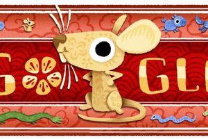 Google trưng biểu tượng chuột vàng chào năm Canh Tý 2020