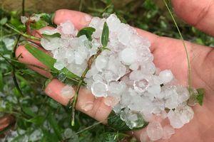 Mưa đá rơi trắng mặt đất ở Phú Thọ, Hòa Bình
