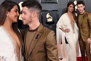 Hoa hậu thế giới Priyanka Chopra váy xẻ sâu bất tận, tình tứ bên chồng