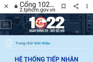 Bao giờ tin được Tổng đài tiếp nhận ý kiến của người dân TPHCM?