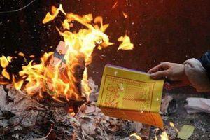 Nguồn gốc, ý nghĩa lễ cúng hóa vàng, cách hóa vàng, đốt vàng mã đúng nhất ngày mùng 3 Tết