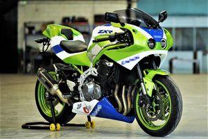 Kawasaki Z900 biến thành sportbike ZXR đậm chất hoài cổ