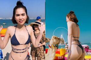 Chi Pu chả kém cạnh Ngọc Trinh khoe dáng nóng bỏng trong bikini 'nhỏ xíu'