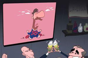 Biếm họa 24h: Zidane và Valverde cười trên nỗi đau của Messi