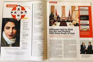Tỷ phú Mai Vũ Minh được tạp chí danh tiếng thế giới Newsweek vinh danh