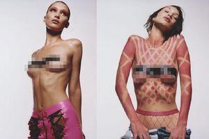 Bella Hadid tiếp tục chụp ảnh bán khỏa thân trên tạp chí