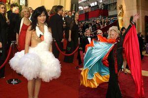 Thảm họa thời trang trên thảm đỏ Oscar khiến fan 'ném đá' tơi tả