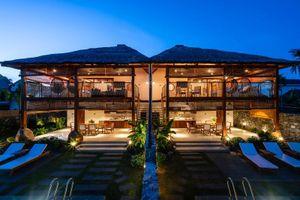 Độc đáo biệt thự làm từ lá dừa ở Quảng Nam