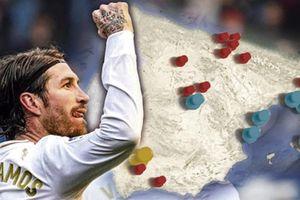 Thống kê ghi bàn khó tin của Sergio Ramos