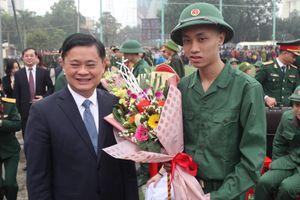 Nghệ An: Hơn 3.100 tân binh lên đường nhập ngũ