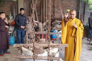 Linh thiêng lễ chú nguyện đúc tượng Phật ở chùa Đức Hậu