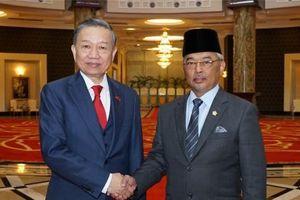 Đại tướng Tô Lâm yết kiến Quốc vương Malaysia Abdullah Sultan Ahmad Shah